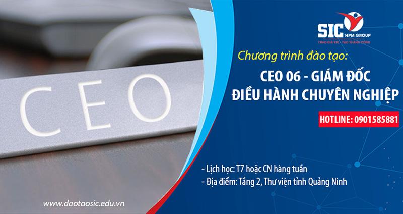 KHOÁ HỌC CEO 06 - GIÁM ĐỐC ĐIỀU HÀNH CHUYÊN NGHIỆP 4.0
