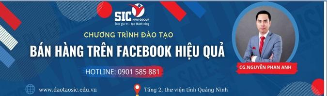 Chương trình đào tạo: Bán hàng trên facebook hiệu quả